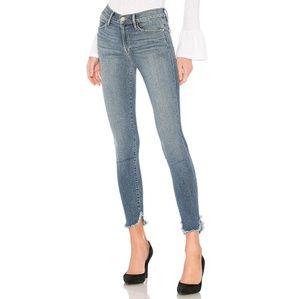 FRAME Le High Skinny Petal Hem Jeans 30